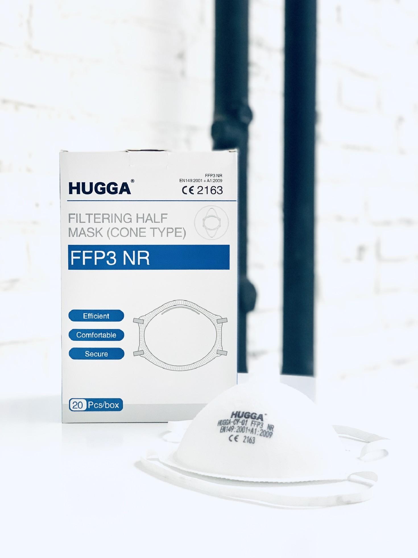Zdravotní respirátor třídy FFP3 HUGGA bez ventilku 1ks - vyrobeno v ČÍNĚ
