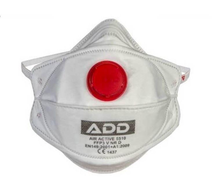 Zdravotní respirátor třídy FFP3 ADD s ventilkem 1ks - výroba Turecko