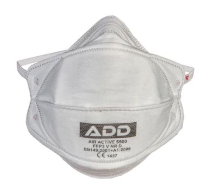Zdravotní respirátor třídy FFP3 ADD bez ventilku 1ks - výroba Turecko