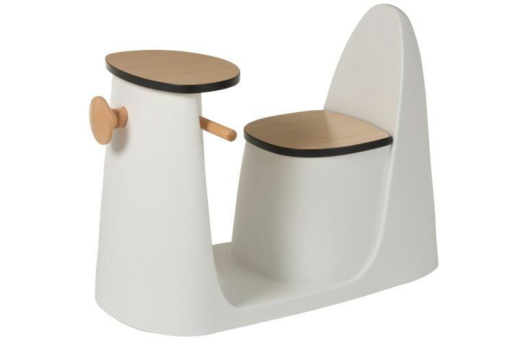Stolek-židle Skutr dětský bílý
