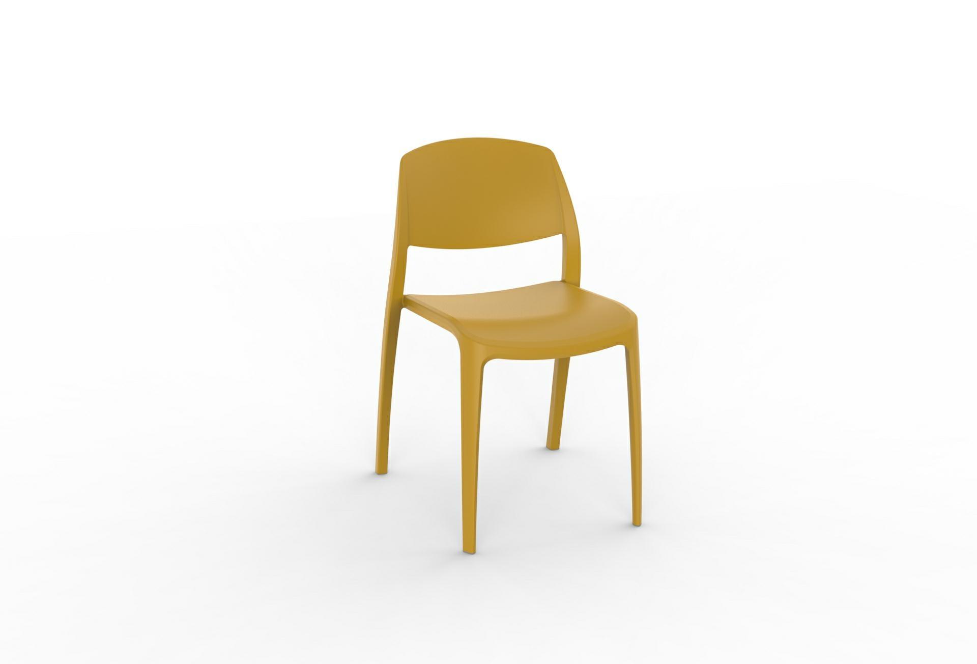 Levně Židle Smart žlutá