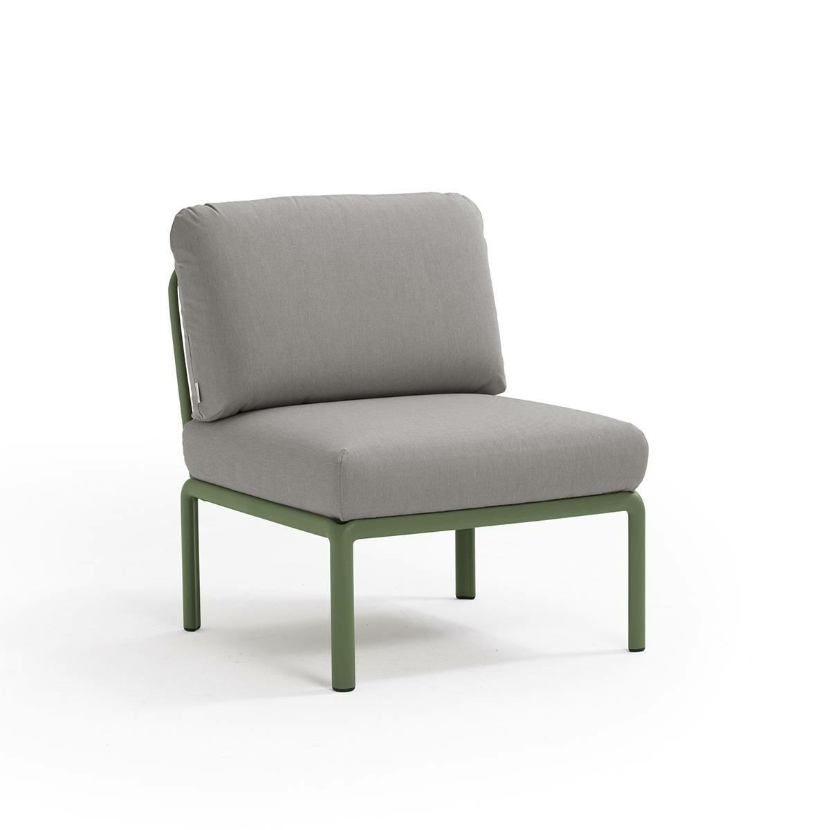 Levně Křeslo Komodo středové zelené/šedé