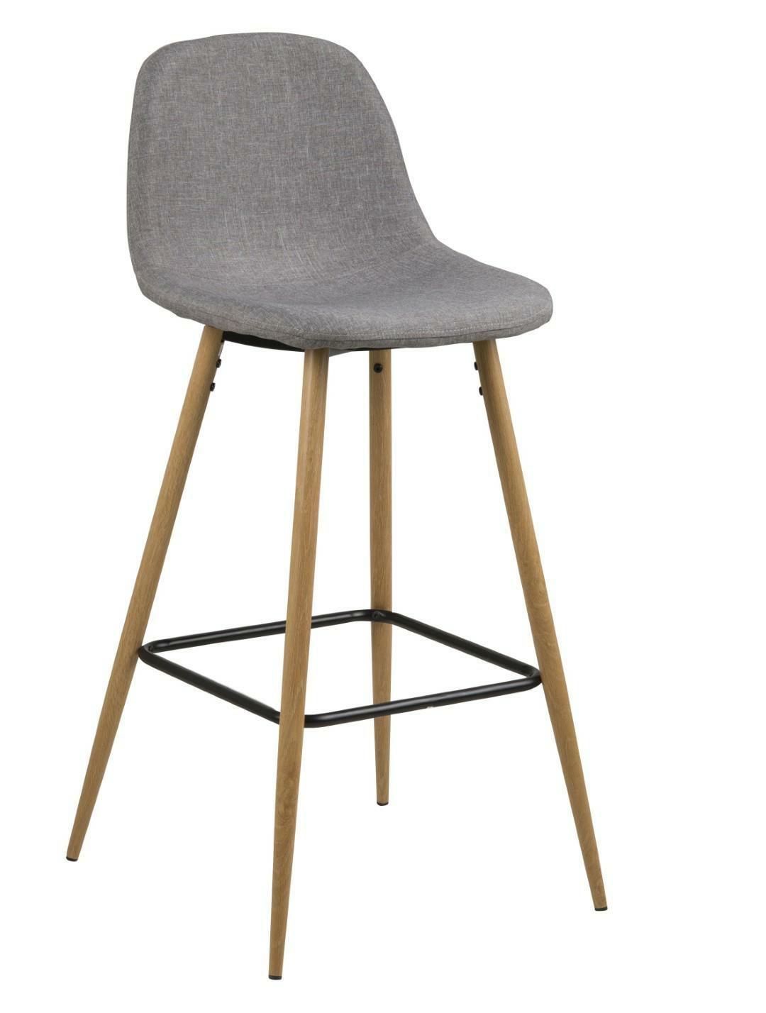 Levně Barová stolička Wilma světle šedý/dub