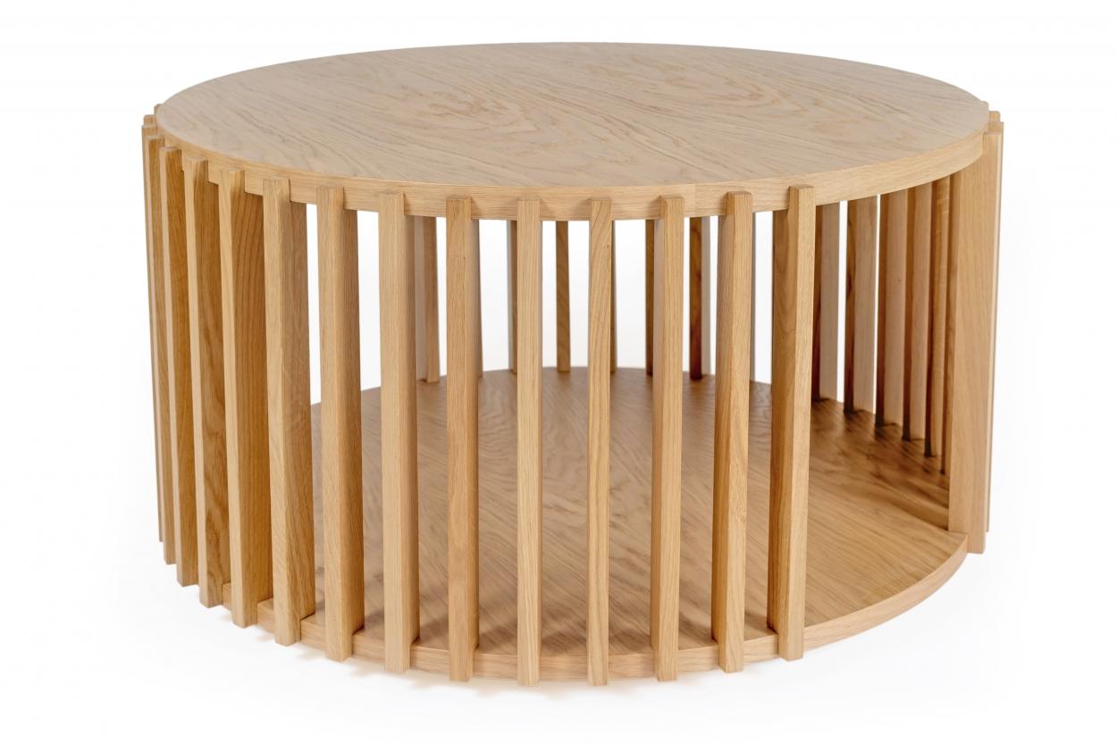 Drum kávový stolek dub