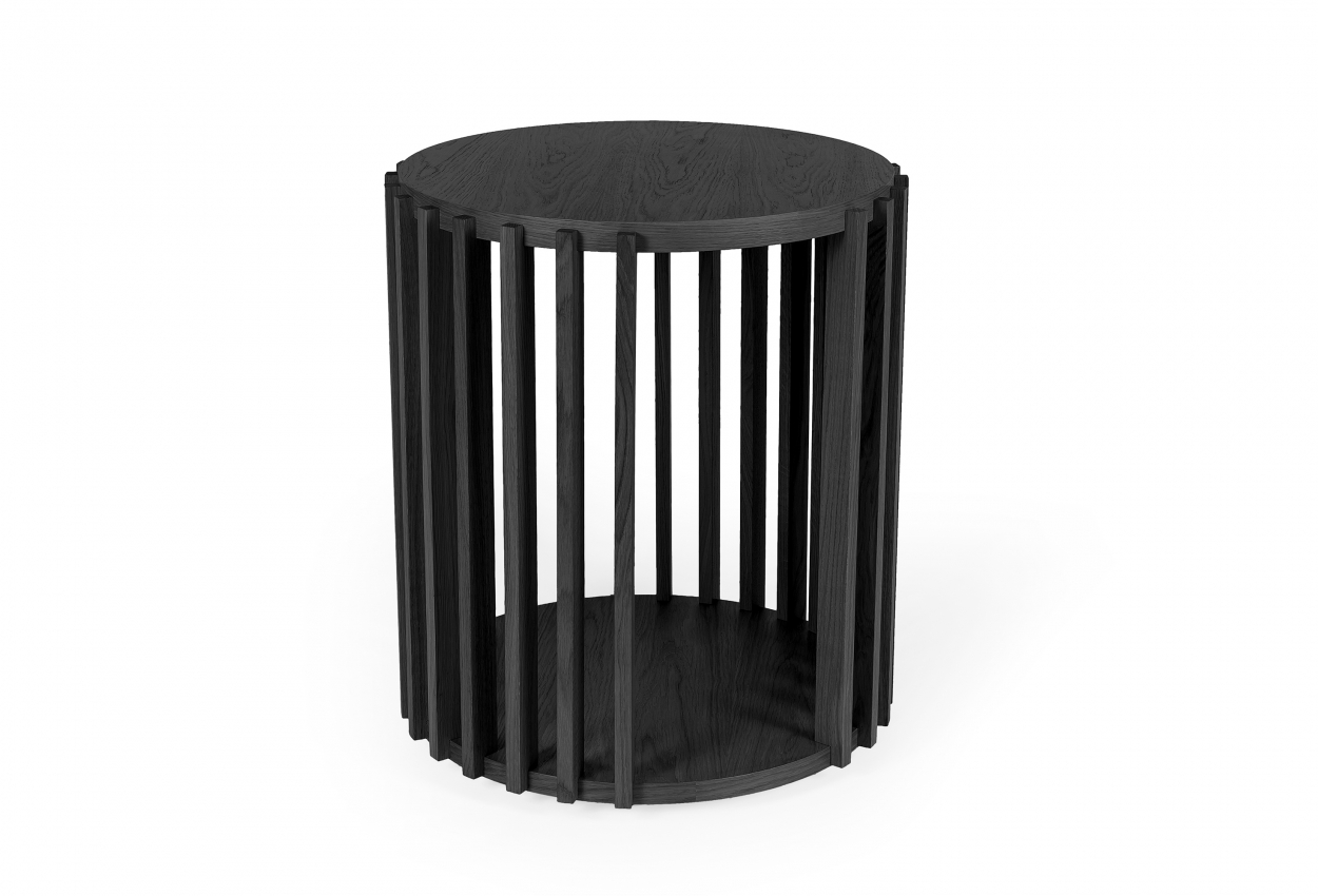 Drum Side stůl černý dub