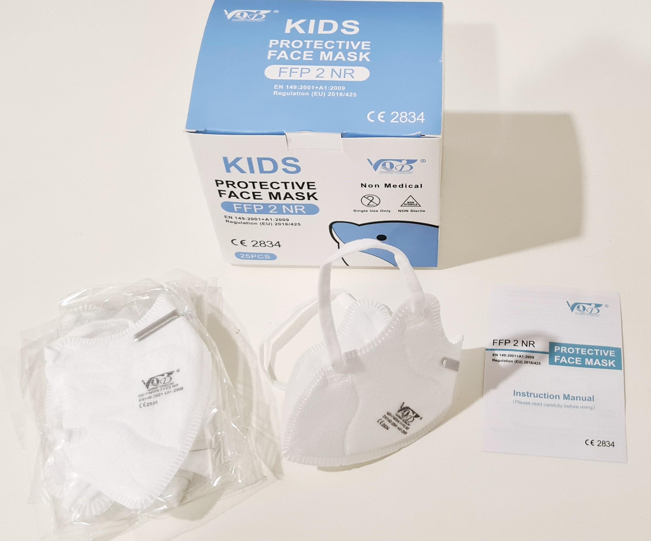 VQD KIDS Dětský respirátor FFP2 (do 7 let) - 25 ks