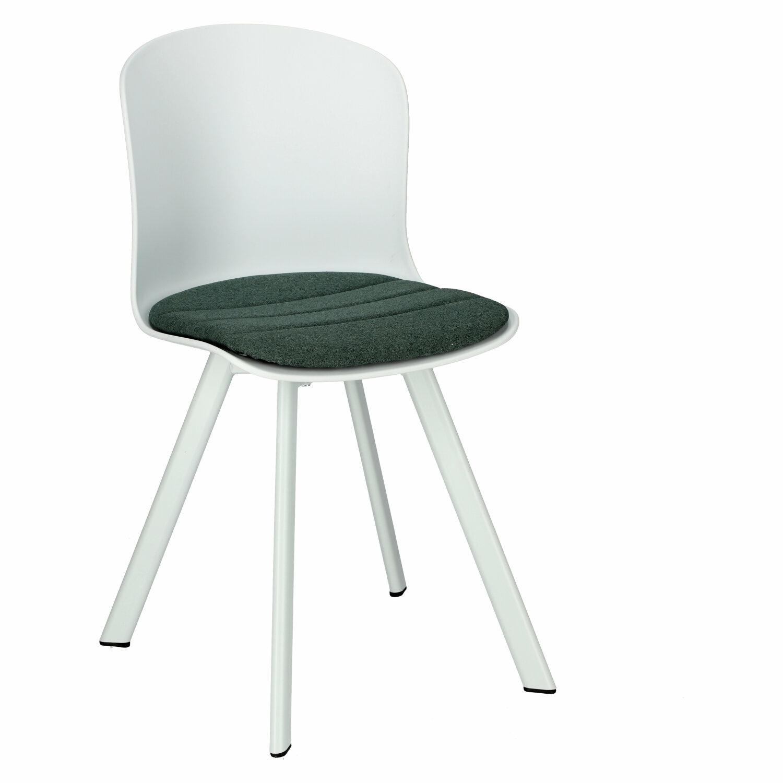 Židle Story 20 bílá PP, zelené sedadlo