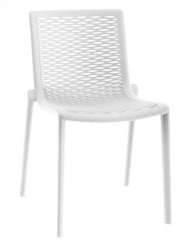 Židle Netkat bílá