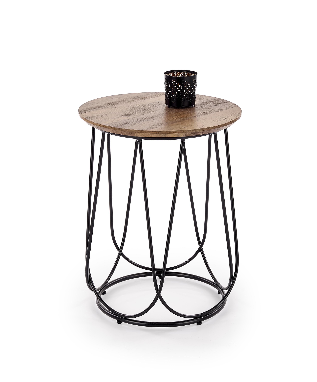 Levně Nubira Z stolek kostra - černá, deska - ořechová