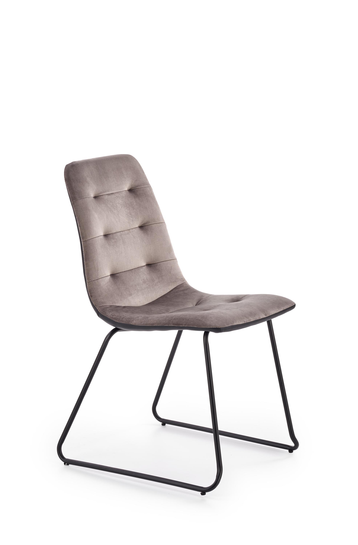 Levně K321 židle kostra - černá, čalounění - šedé / černé