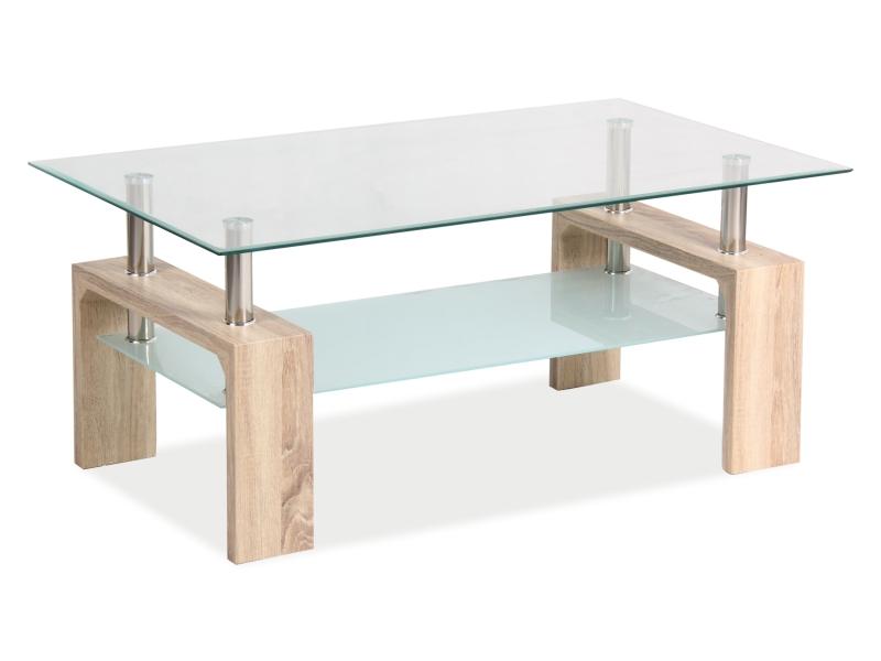 Konferenční stolek LISA BASIC II dub sonoma 100x60x55