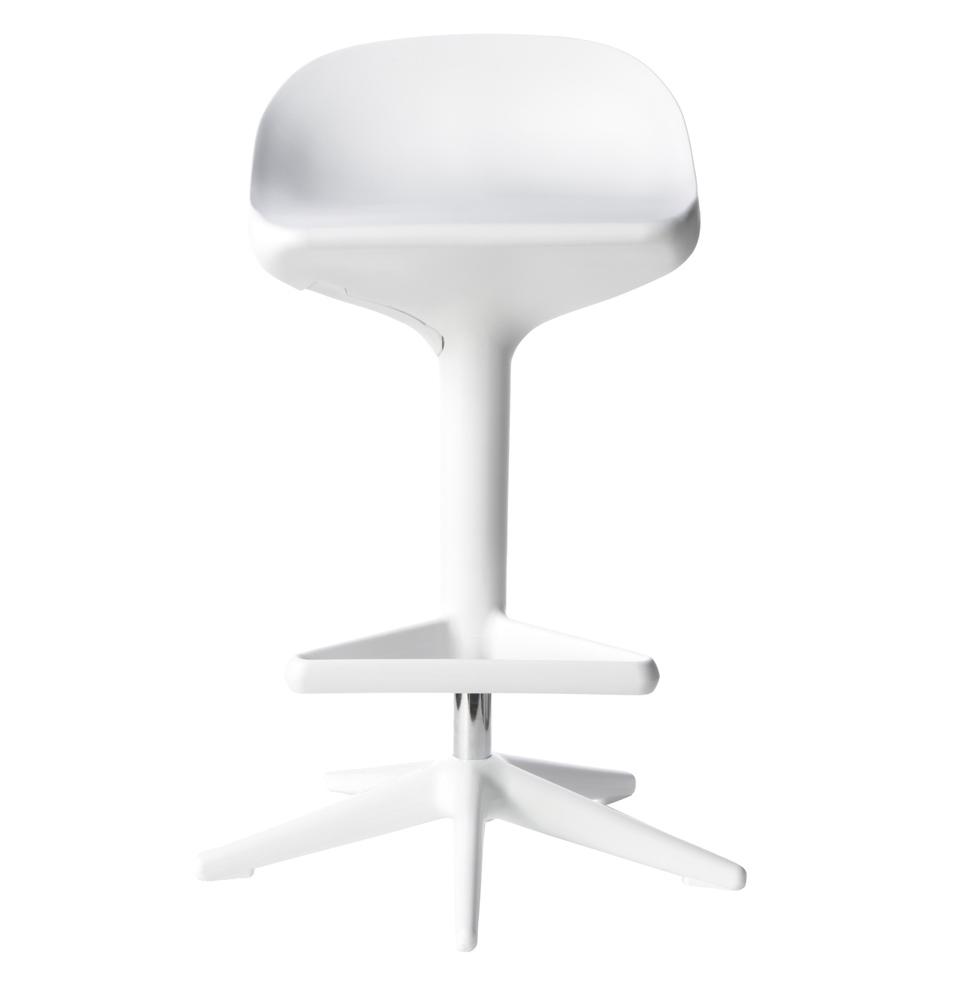 Barová židle BENT - bílá polypropylen