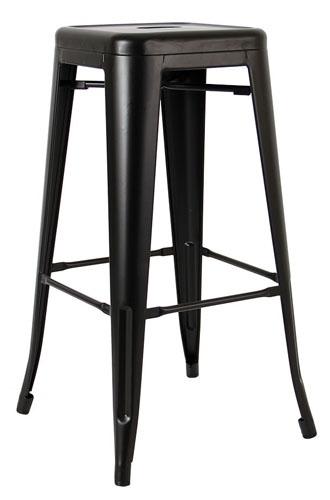 Barová židle TOWER 76 cm černá kov