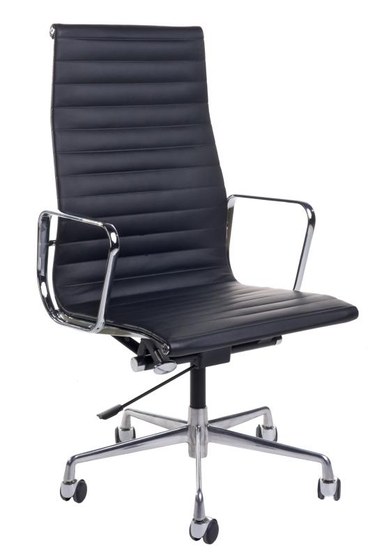 Kancelářské křeslo CH1191T černá kůže/chrom