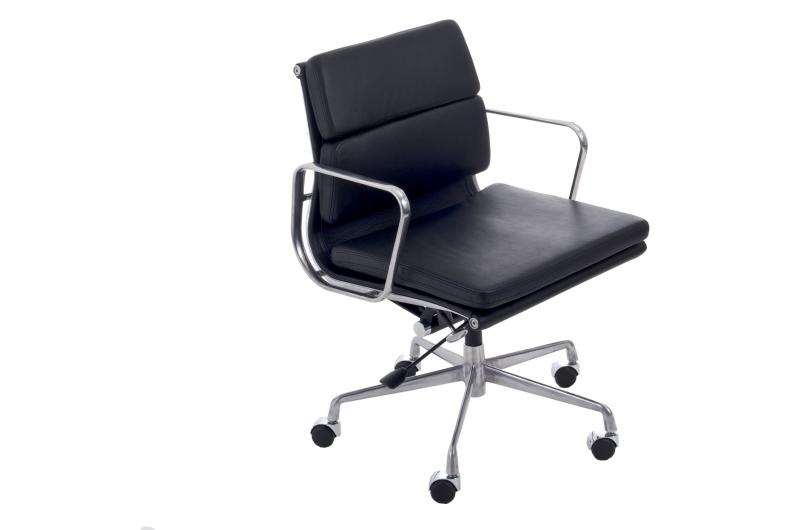 Kancelářské křeslo CH2171T černá kůže chrom