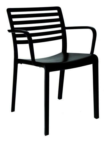 Židle LAMA s područkami černá
