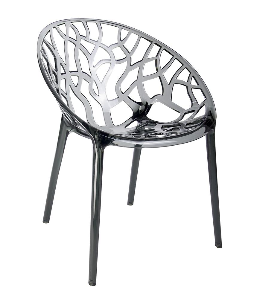 Židle KORAL kouřová - polykarbonát