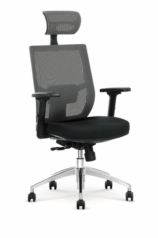 ADMIRAL kancelářské křeslo šedo / černé