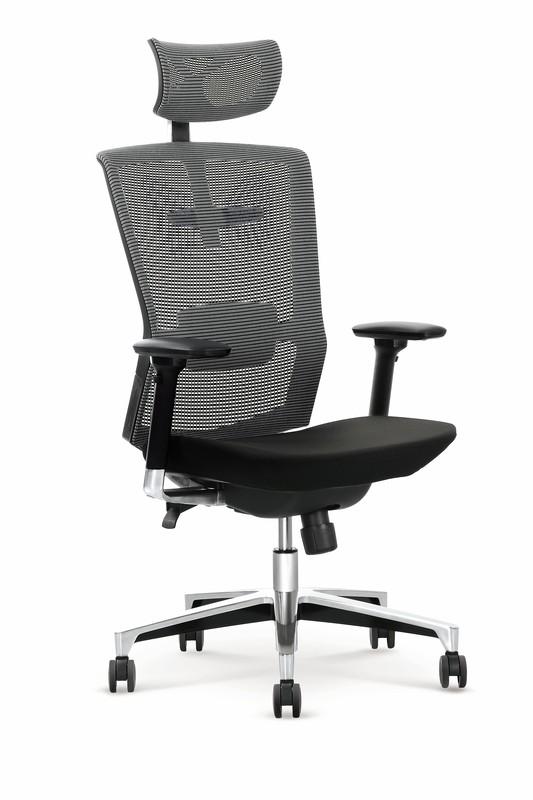 AMBASADOR kancelářské křeslo šedo / černé