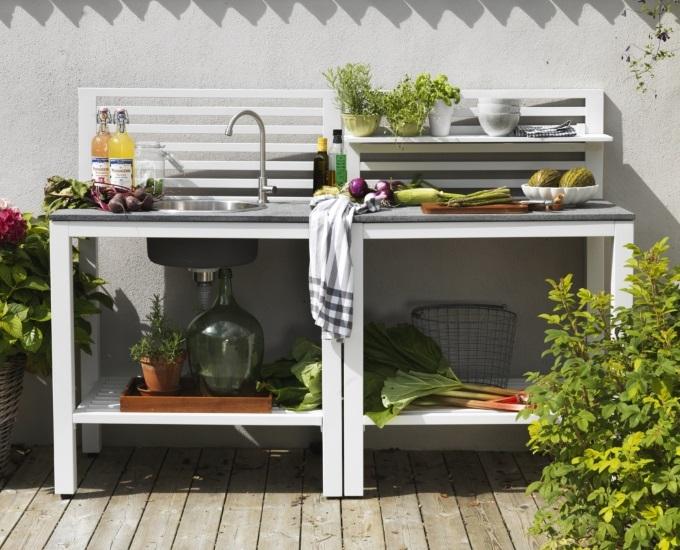 Hliníková zahradní kuchyně - Antibes hliník bílá