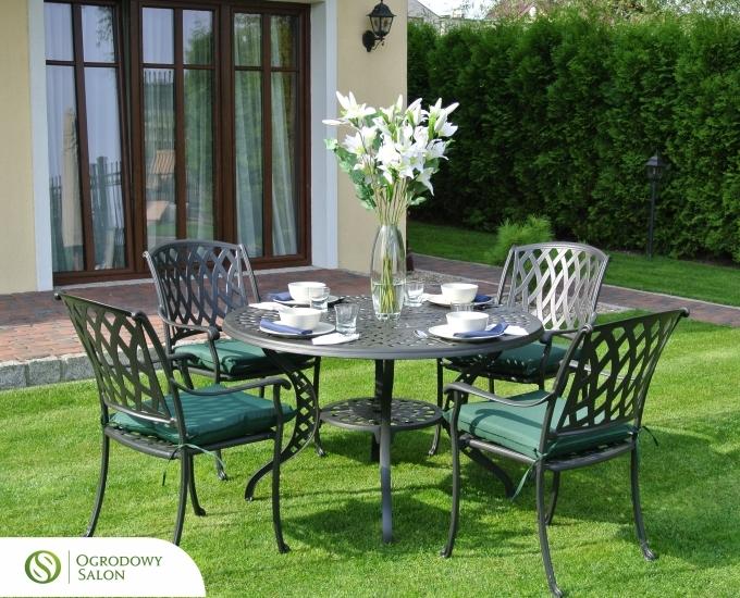 Hliníkový zahradní nábytek SANTA MONICA: grafitový hliník