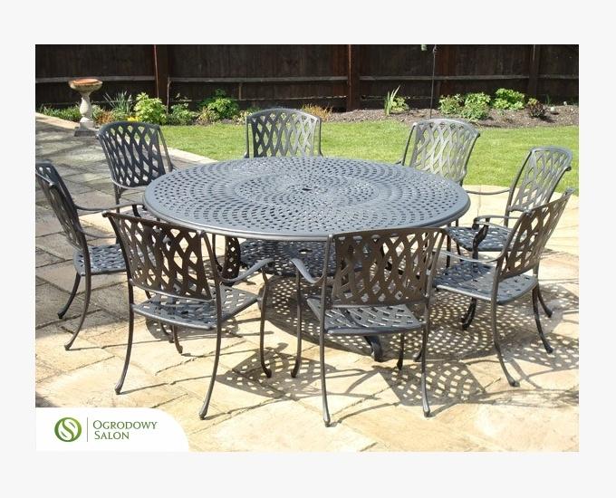 Hliníkový zahradní kulatý stůl HOLLYWOOD
