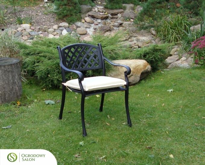 Hliníkové zahradní křeslo MANHATTAN: černé hliníkové