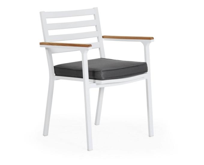 Bílé hliníkové židle OLIVET