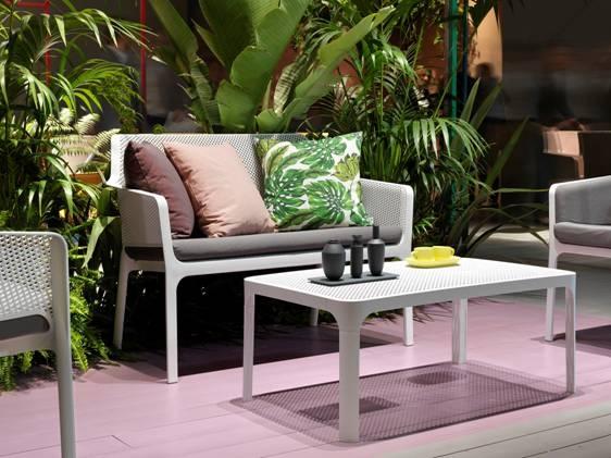Kávový stolek NARDI NET: tmavošedý polypropylén