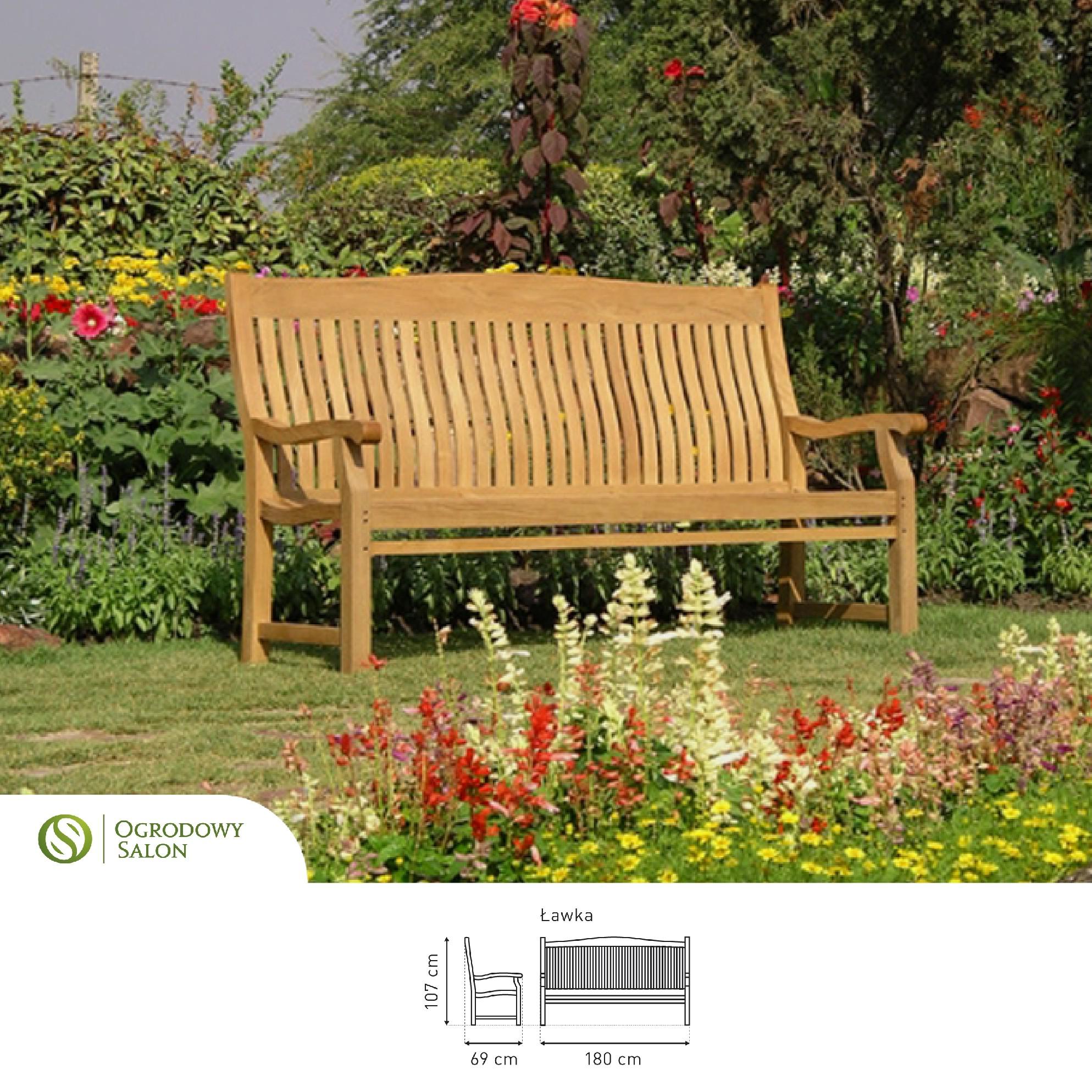 Zahradní dřevěná lavice TEAK 180 cm: TEAK