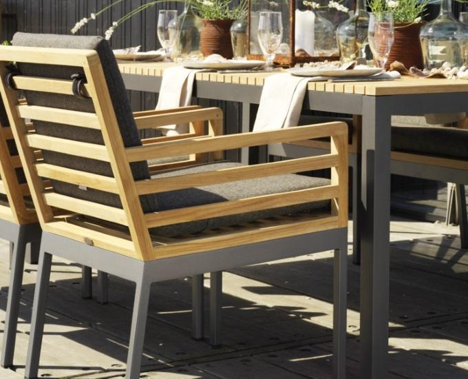 Teaková hliníková židle ZALONGO