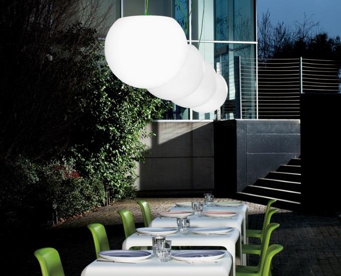 Polyetylénová venkovní lampa HAPPY apple