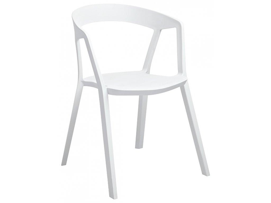 Stoličky Vibio biela - polypropylén