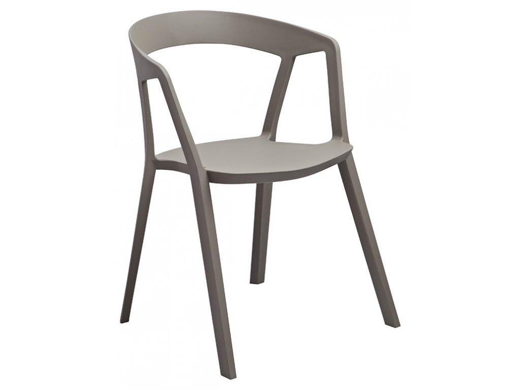 Stoličky Vibio šedá - polypropylén