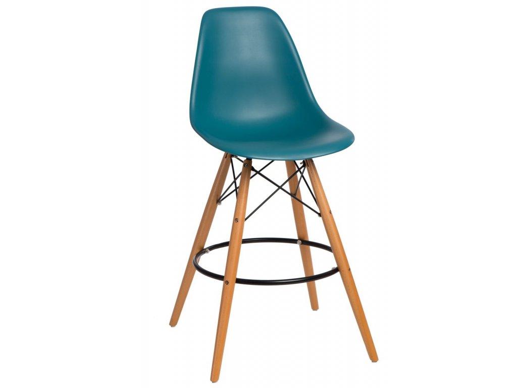 Barová stolička P016V PP navy zelená