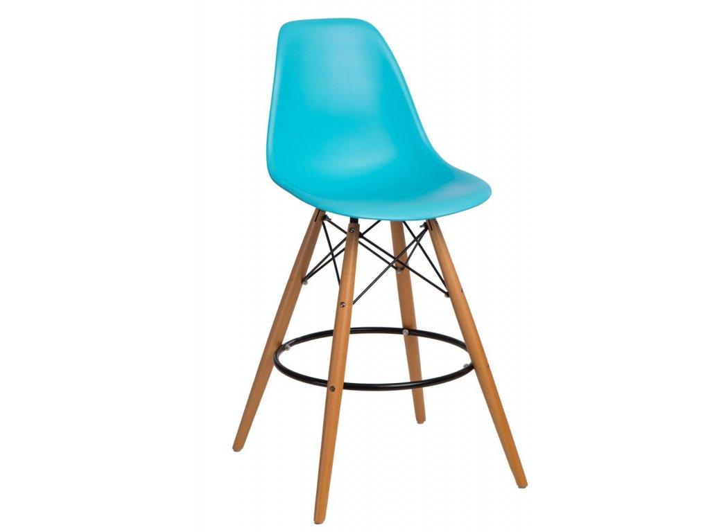 Barová stolička P016V PP oceán modrá