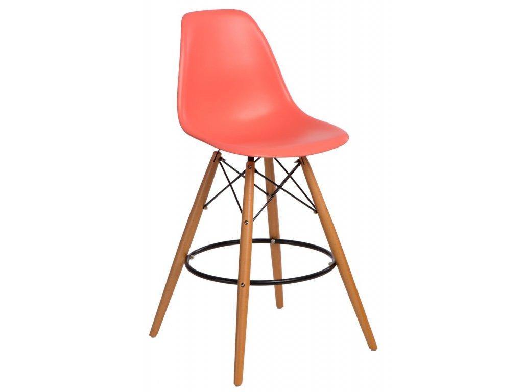 Barová stolička P016V PP tmavo broskyňová