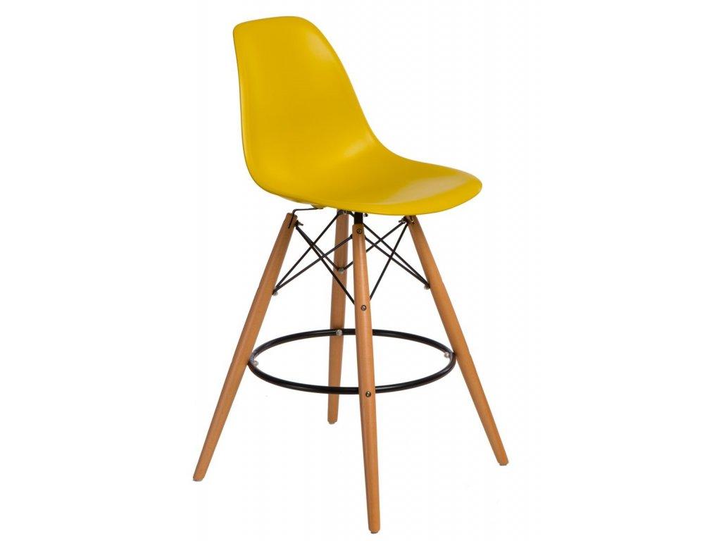 Barová stolička P016V PP tmavo olivová