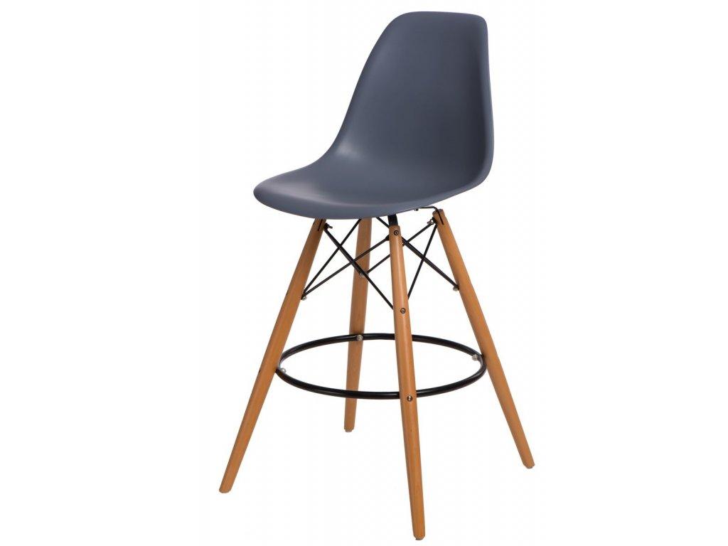 Barová stolička P016V PP tmavo šedá