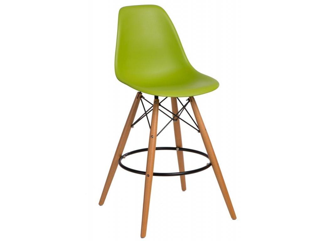 Barová stolička P016V PP zelená