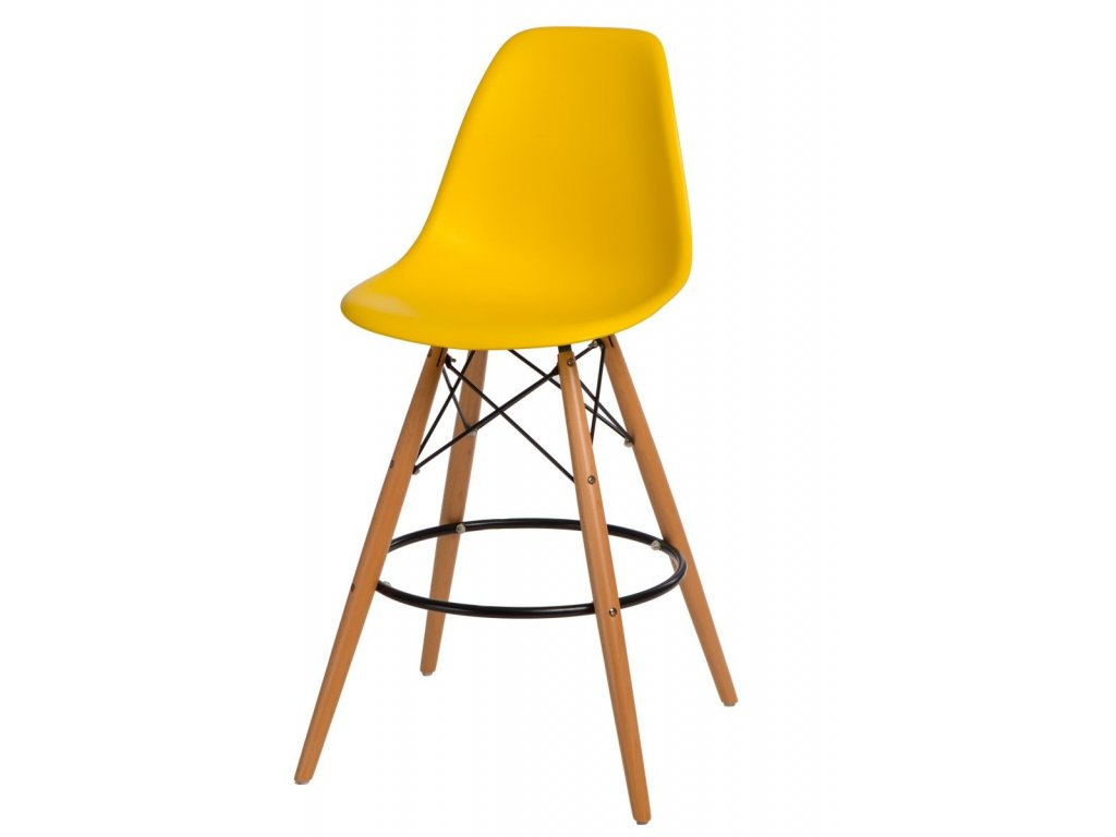 Barová stolička P016V PP žltá