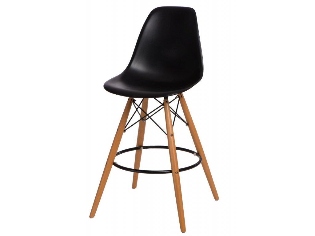 Barová stolička P016V PP čierna