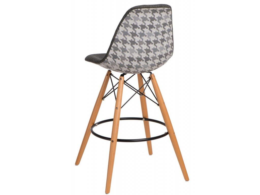Barová stolička P016V Pattern sivá pepito