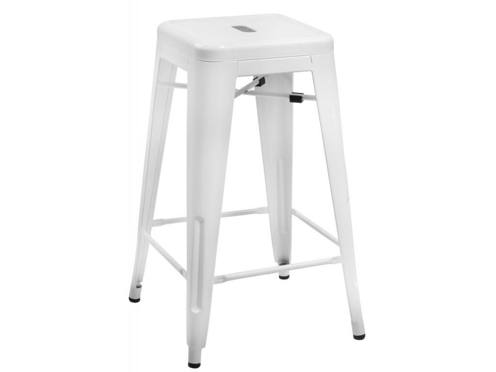 Barová stolička Paris 75cm biela insp. Tolix