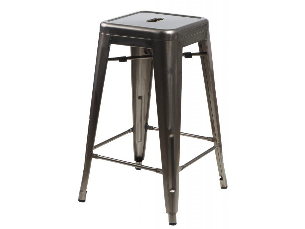 Barová stolička Paris 75cm kovová insp. Tolix