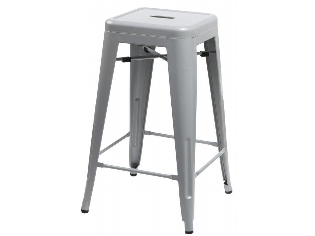 Barová stolička Paris 75cm sivá insp. Tolix