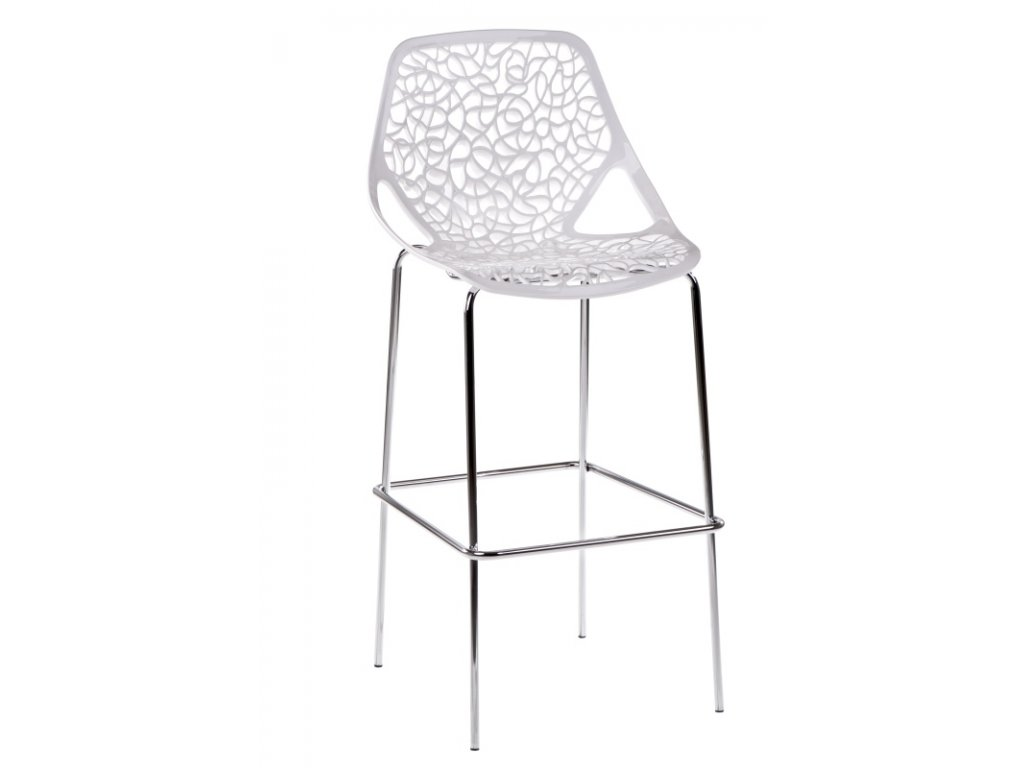 Barová stolička čepeliam biela