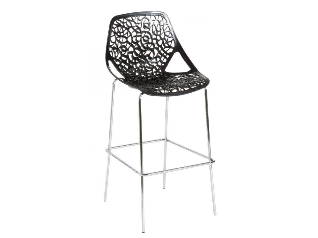 Barová stolička čepeliam čierna