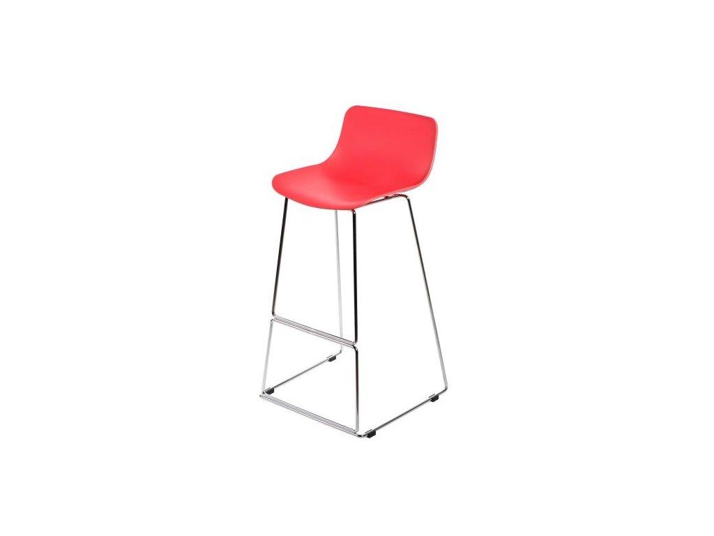 Barová stolička Deli červená