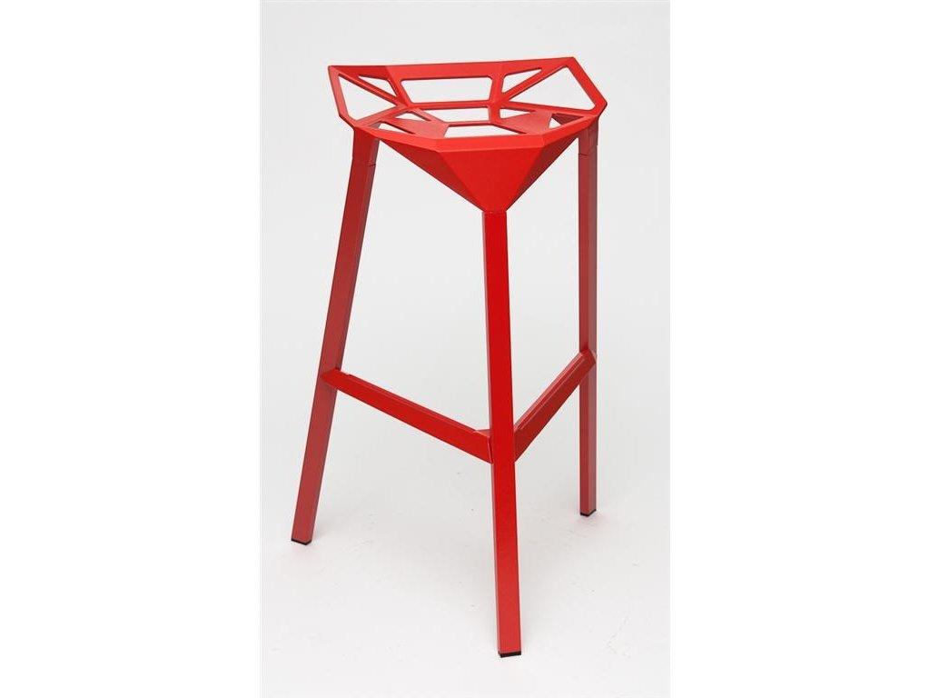 Barová stolička Gap červená